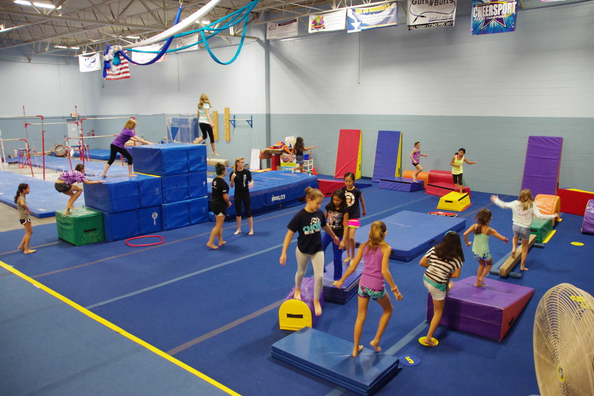 Indoor Gymnastics Kids Birthday Party